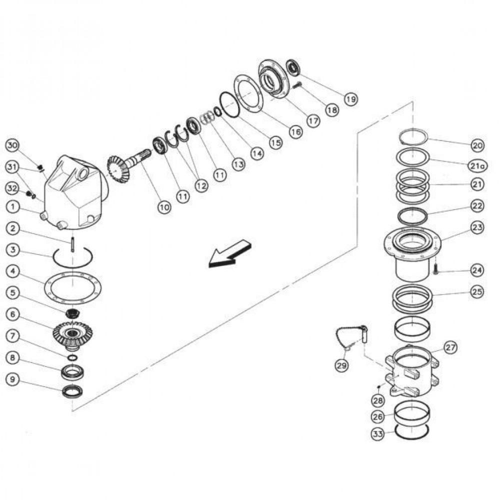 03 Gyrodine tandwielkast, boven passend voor KUHN FC352RG 2