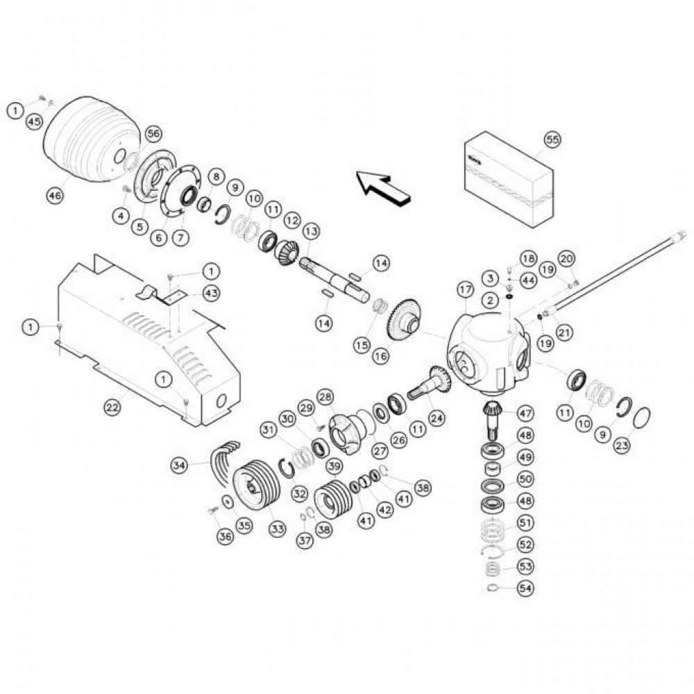 06 Haakse tandwielkast passend voor KUHN FC352RG 2
