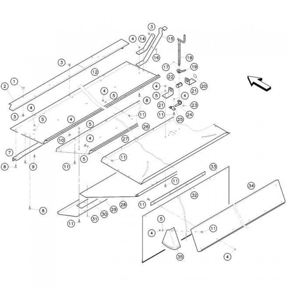 13 Conditioner kap passend voor KUHN FC352RG 2