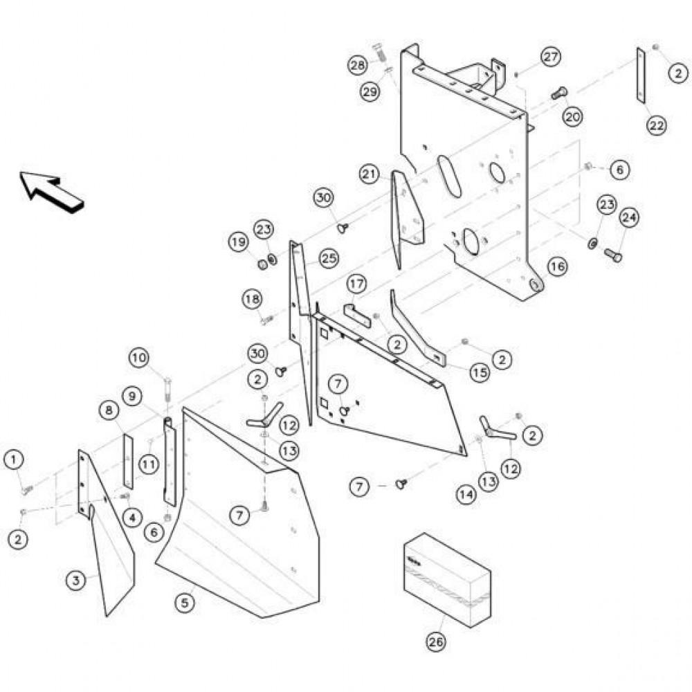 14 Zijplaten, rechts passend voor KUHN FC352RG 2