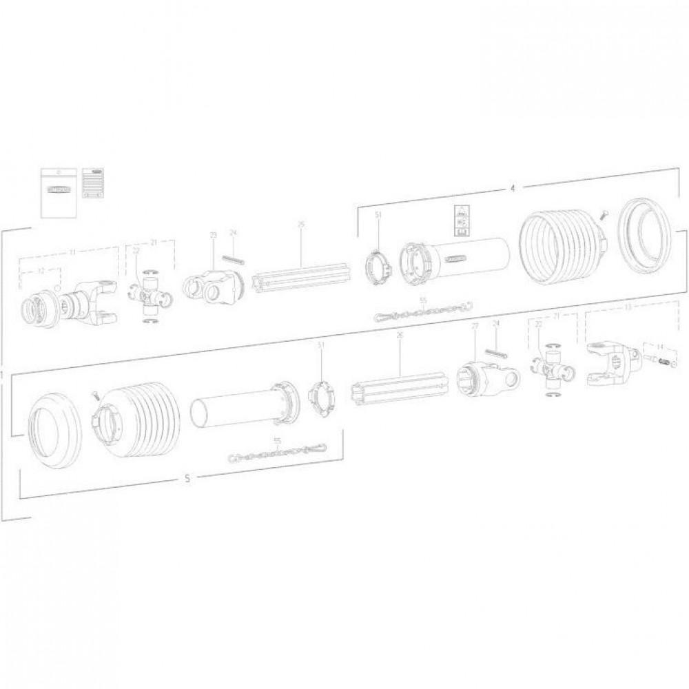 29 Transmissie 1 passend voor KUHN FC352RG 2