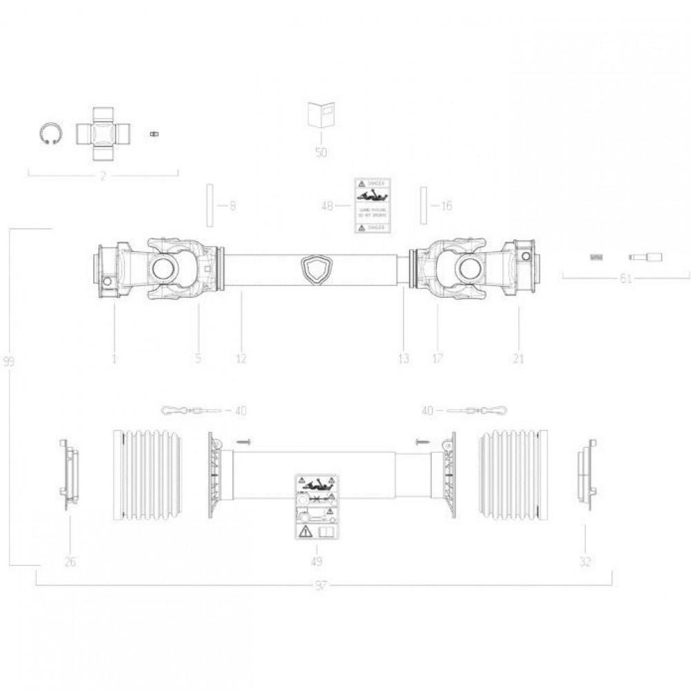 31 Transmissie 3 passend voor KUHN FC352RG 2