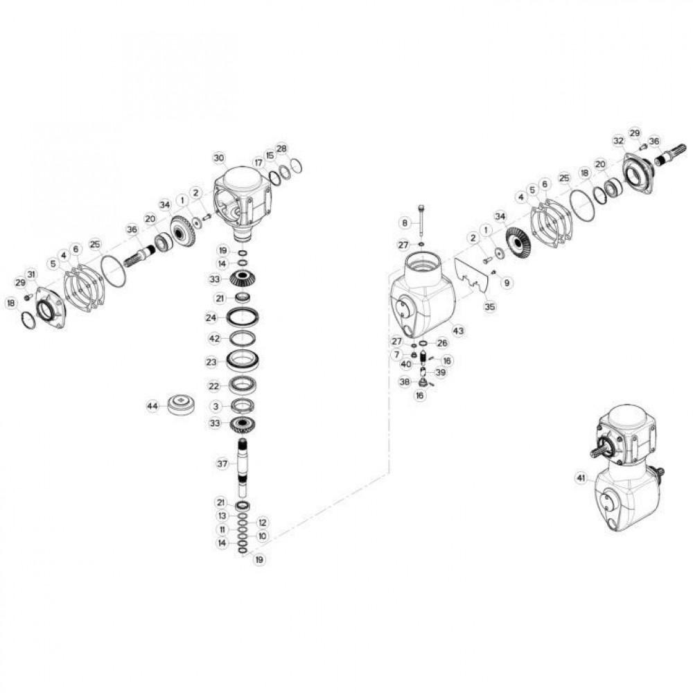02 Gyrodine tandwielkast passend voor KUHN FC3560TLD