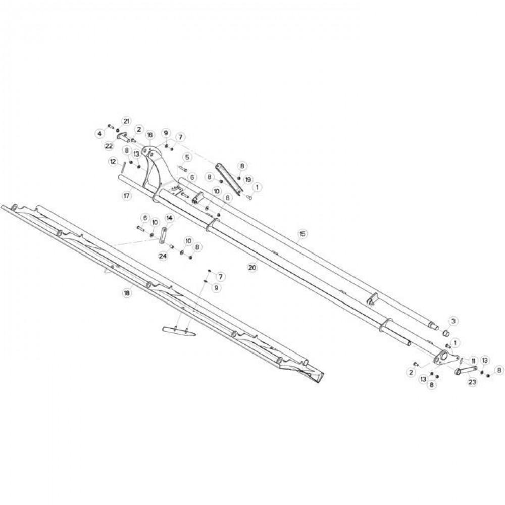 09 Deflectorset passend voor KUHN FC3560TLD