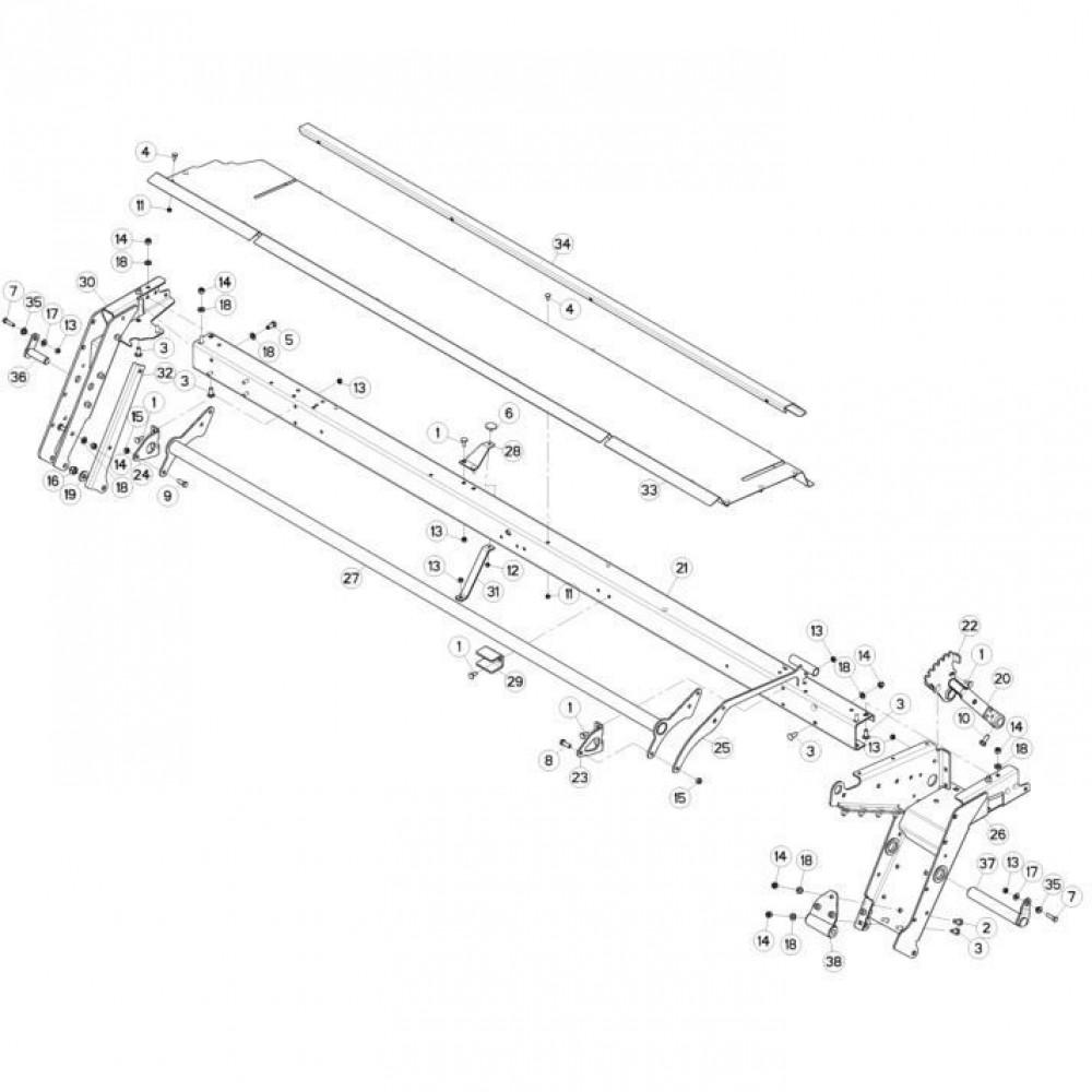 10 Frame 2 passend voor KUHN FC3560TLD