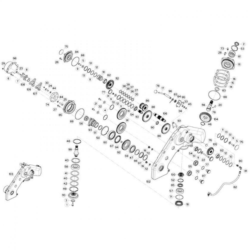 11 Tandwielkast, zijkant passend voor KUHN FC3560TLD
