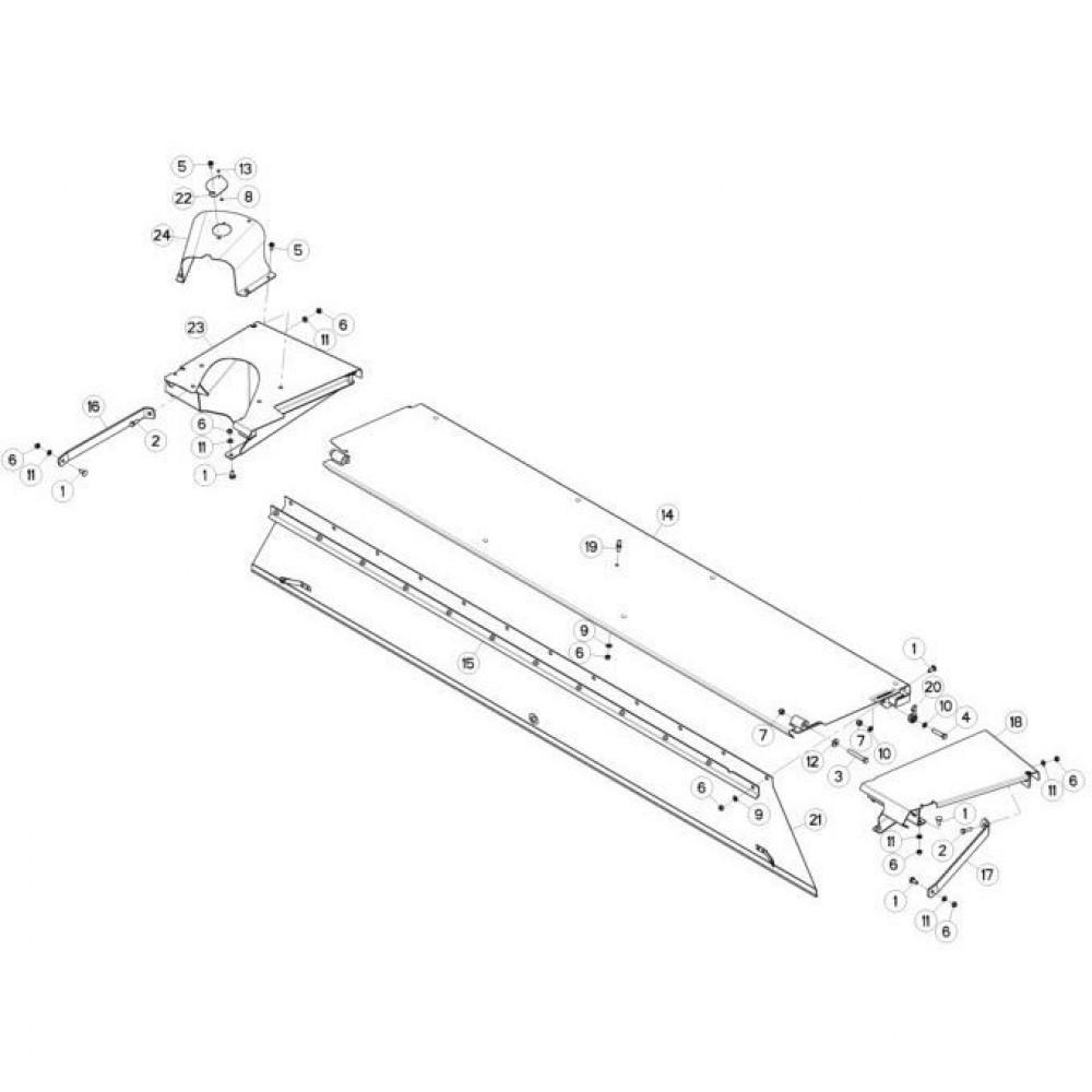 13 Schermbeugels passend voor KUHN FC3560TLD