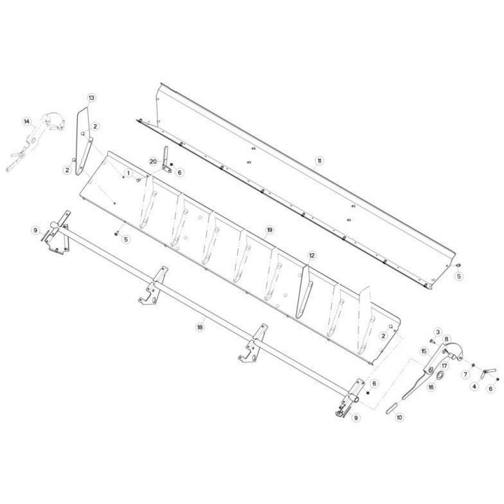 17 Set voor verdeelplaat passend voor KUHN FC3560TLD