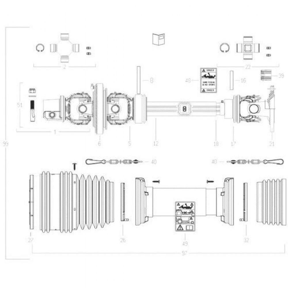 27 Transmissie 3 passend voor KUHN FC3560TLD