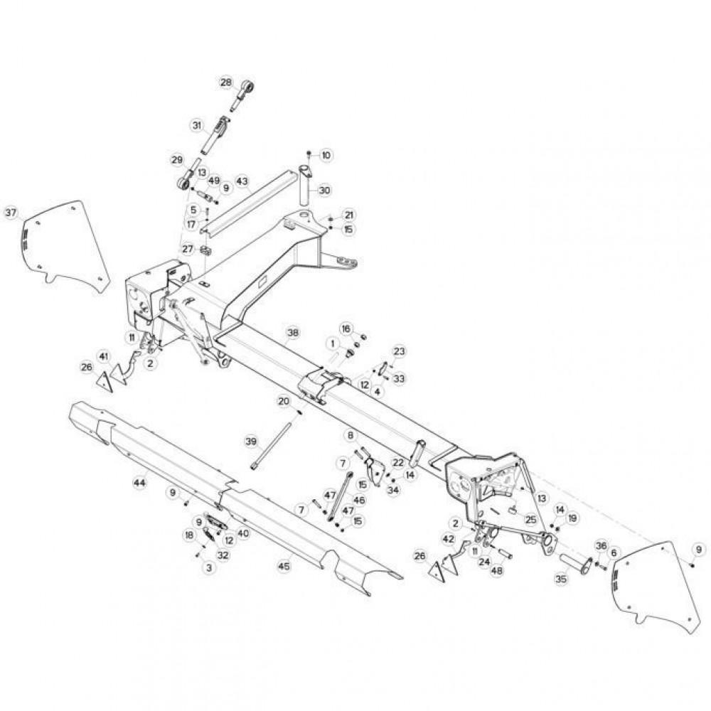 03 Frame 1 passend voor KUHN FC3560TLR