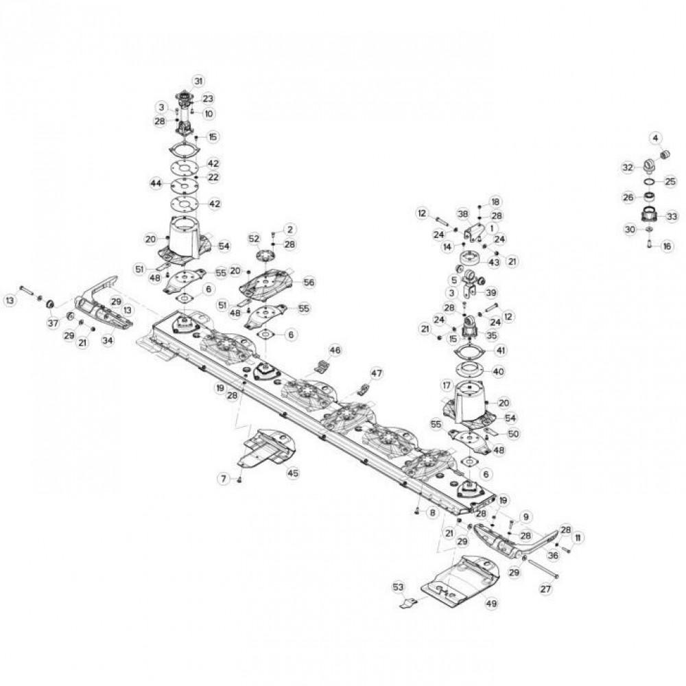 07 Schijven, beschermingen en glijplaten passend voor KUHN FC3560TLR