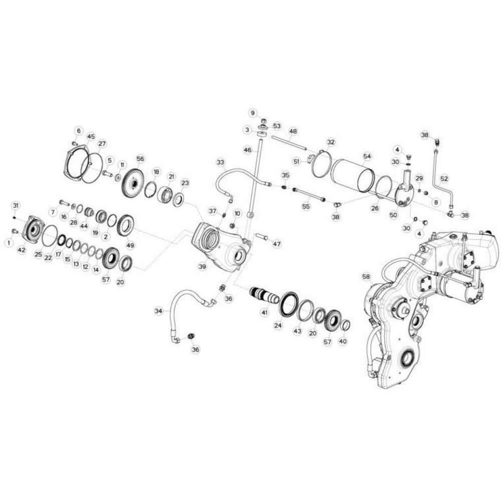 11 Tandwielkast, zijkant 2 passend voor KUHN FC3560TLR