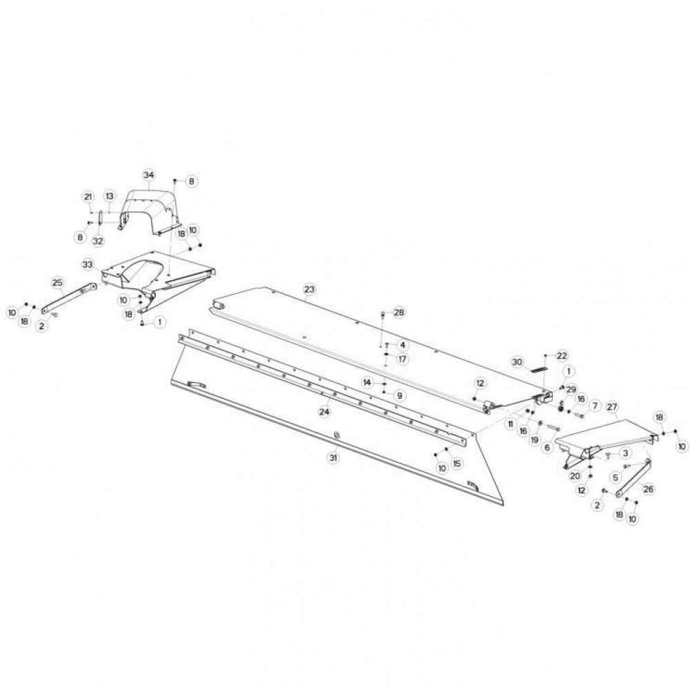 14 Schermbeugels passend voor KUHN FC3560TLR