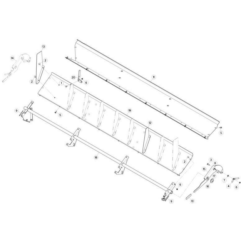 18 Deflectorset passend voor KUHN FC3560TLR