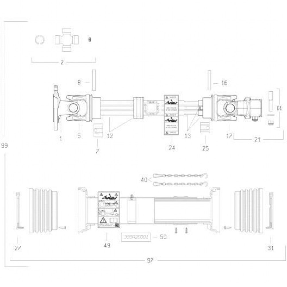 27 Transmissie 2 passend voor KUHN FC3560TLR