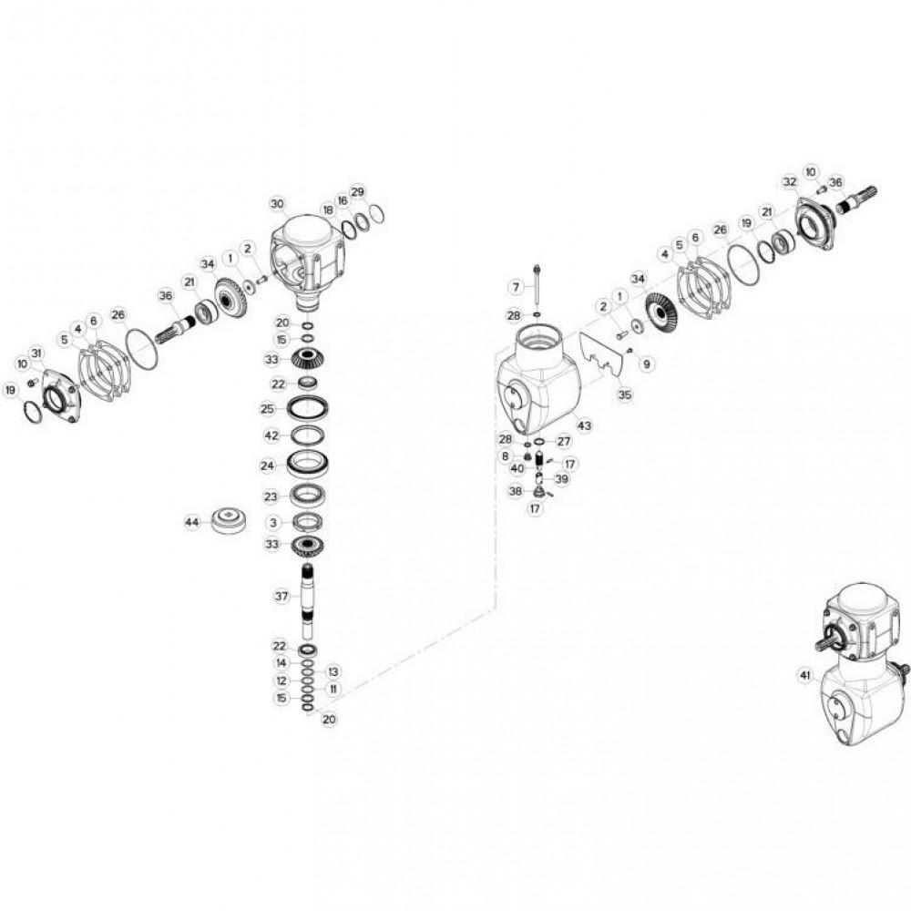 02 Gyrodine tandwielkast passend voor KUHN FC3560TLS