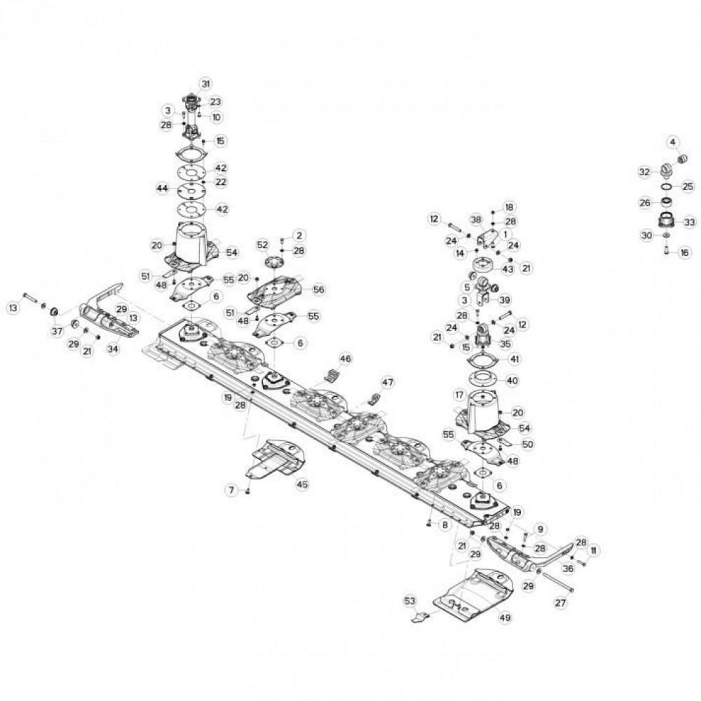 08 Schijven, beschermingen en glijplaten passend voor KUHN FC3560TLS