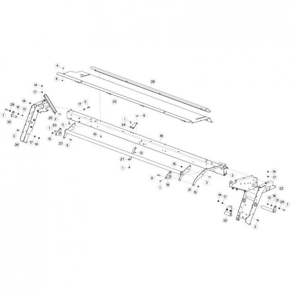 10 Frame 2 passend voor KUHN FC3560TLS