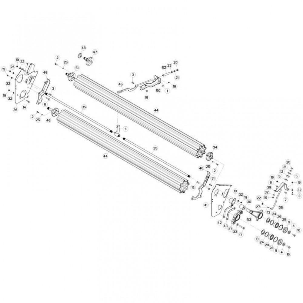 14 Rol passend voor KUHN FC3560TLS