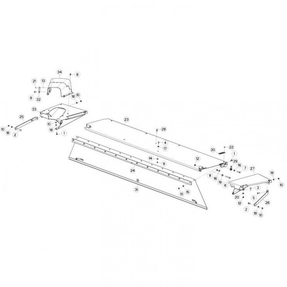 15 Schermbeugels passend voor KUHN FC3560TLS