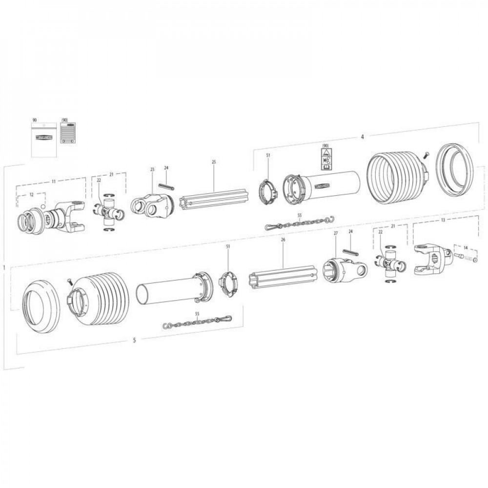 28 Transmissie 1 passend voor KUHN FC3560TLS