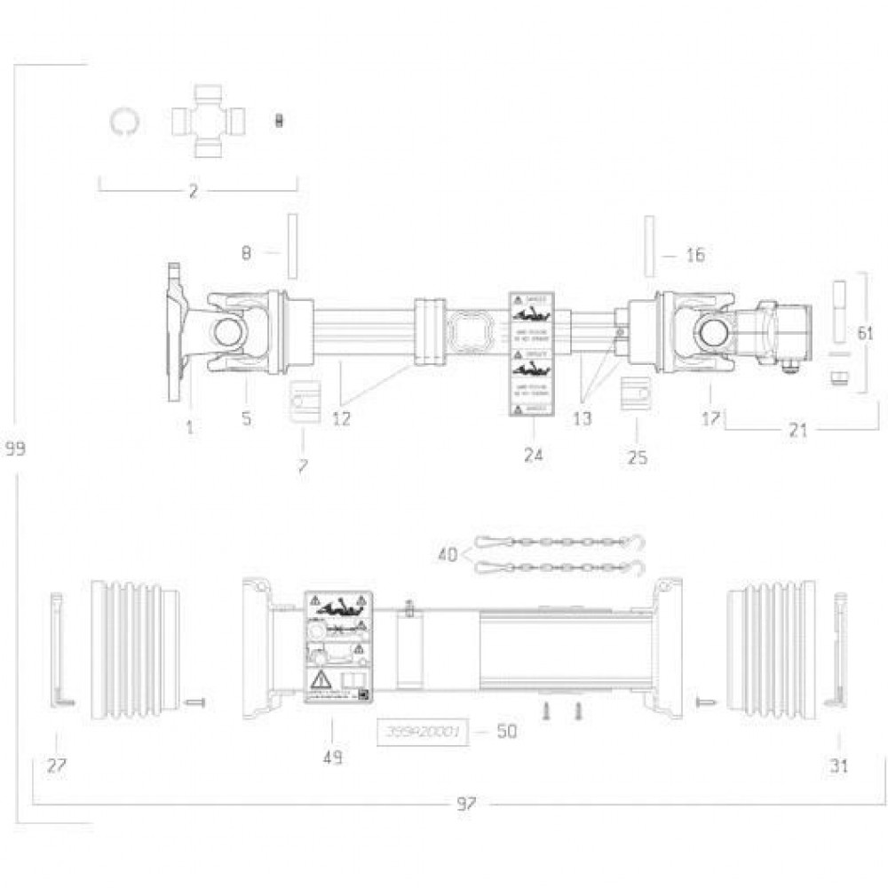 29 Transmissie 2 passend voor KUHN FC3560TLS