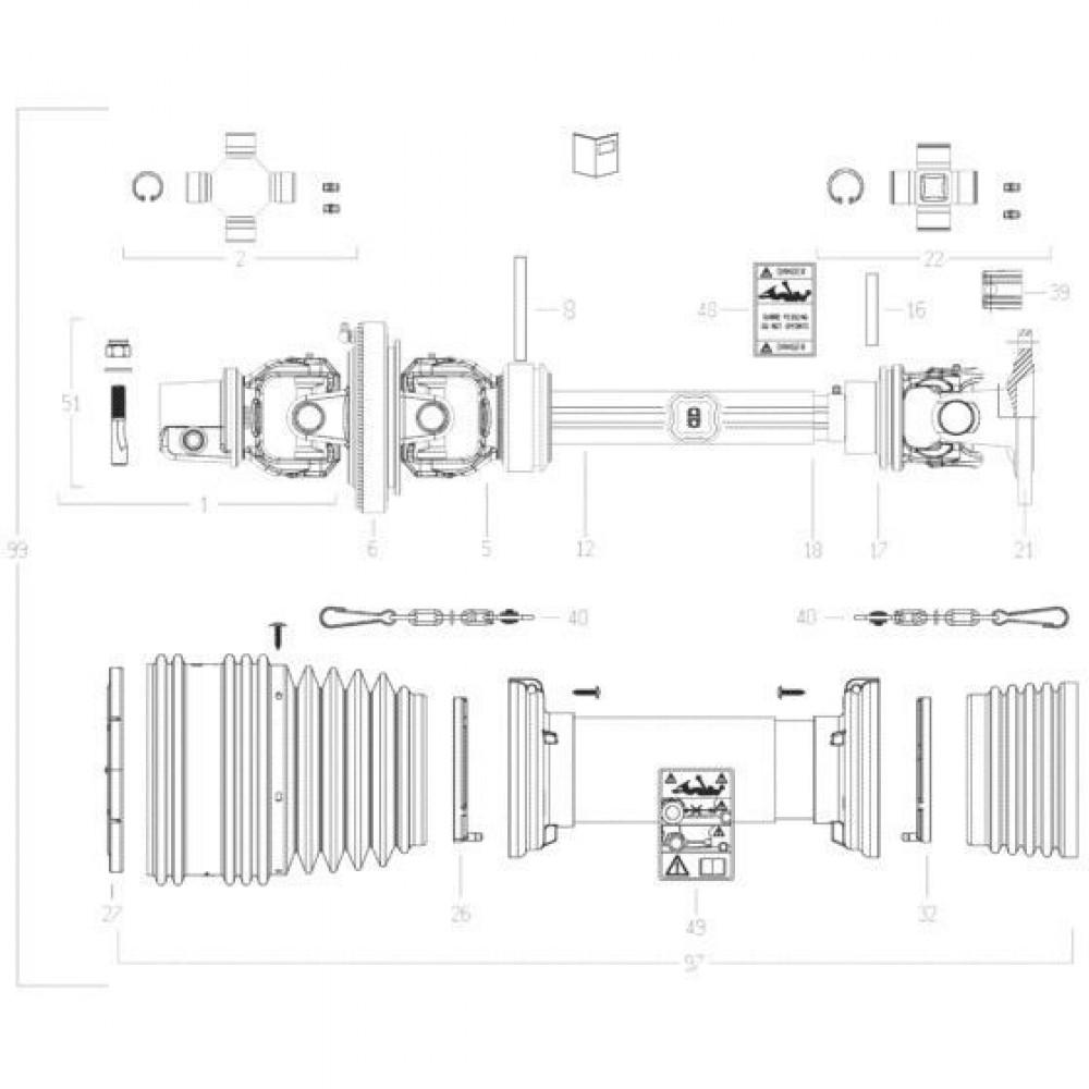 30 Transmissie 3 passend voor KUHN FC3560TLS