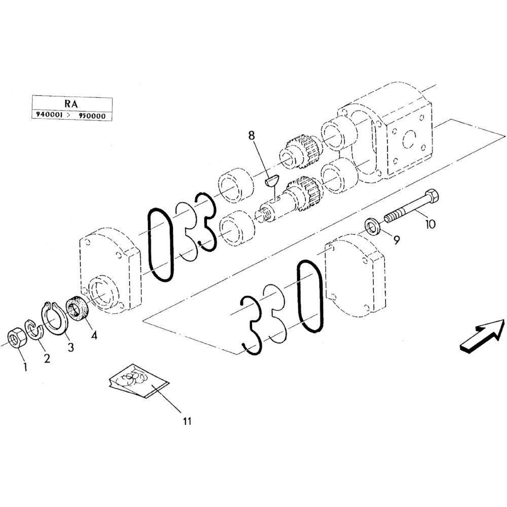 02 Hydraulische pomponderdelen passend voor KUHN RA-FA300GTRGT