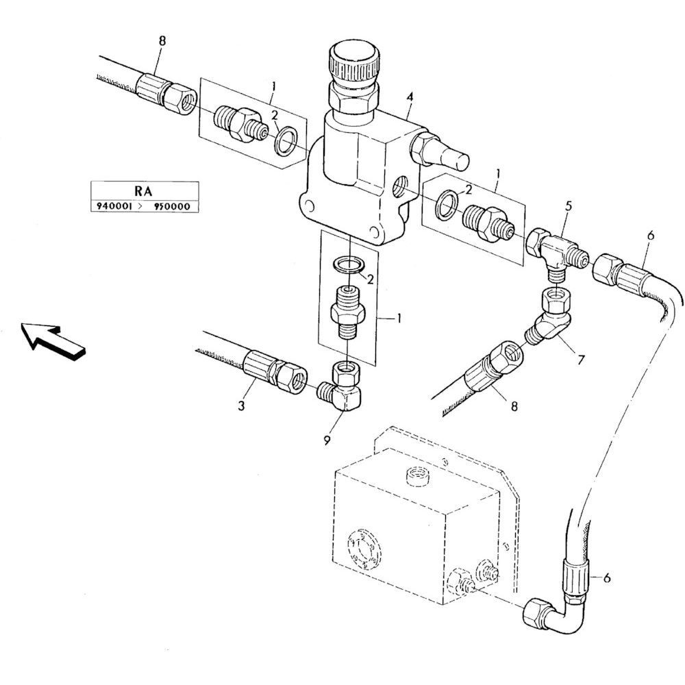 04 Hydraulisch systeem onderdelen 1 passend voor KUHN RA-FA300GTRGT