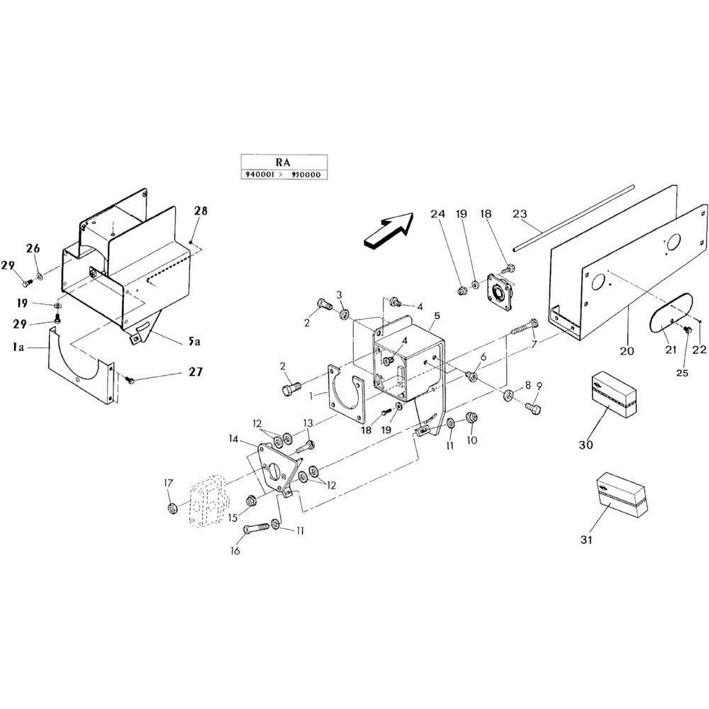 02 Hydraulische pomp, steun passend voor KUHN RA-FA250G-RG
