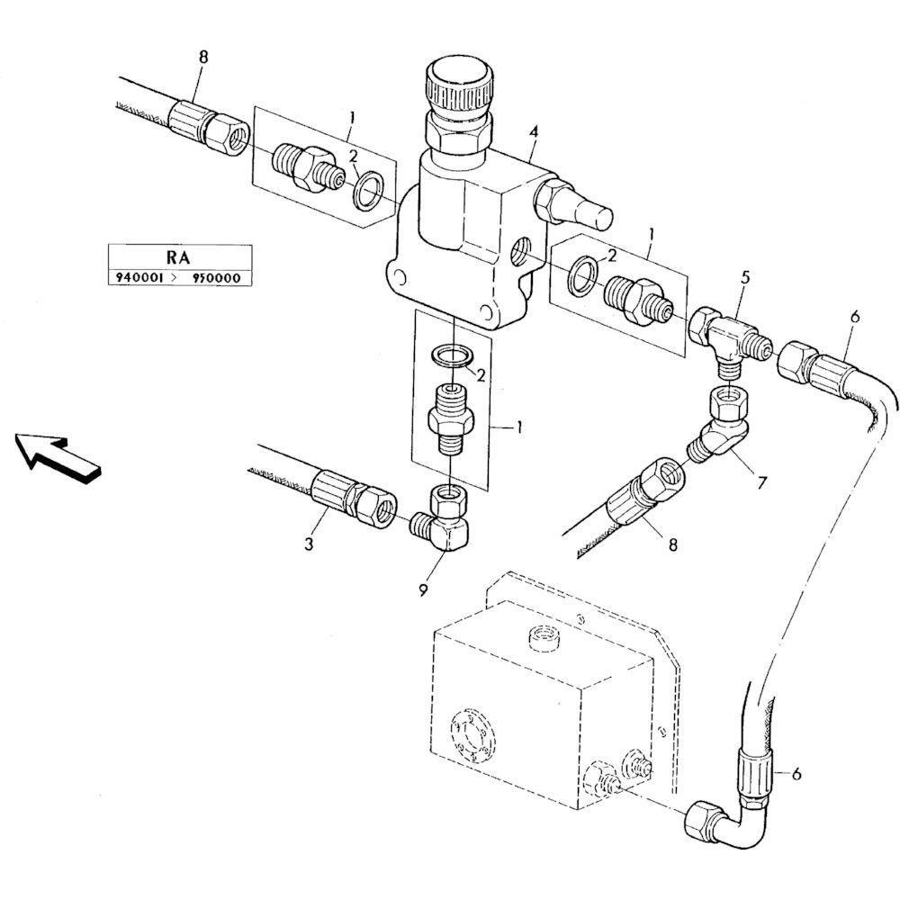 03 Hydraulisch systeem onderdelen 1 passend voor KUHN RA-FA250G-RG
