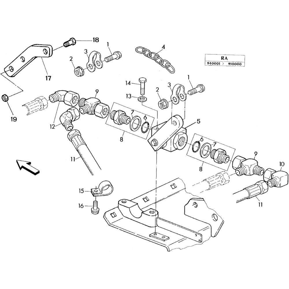 04 Hydraulisch systeem onderdelen 2 passend voor KUHN RA-FA250G-RG