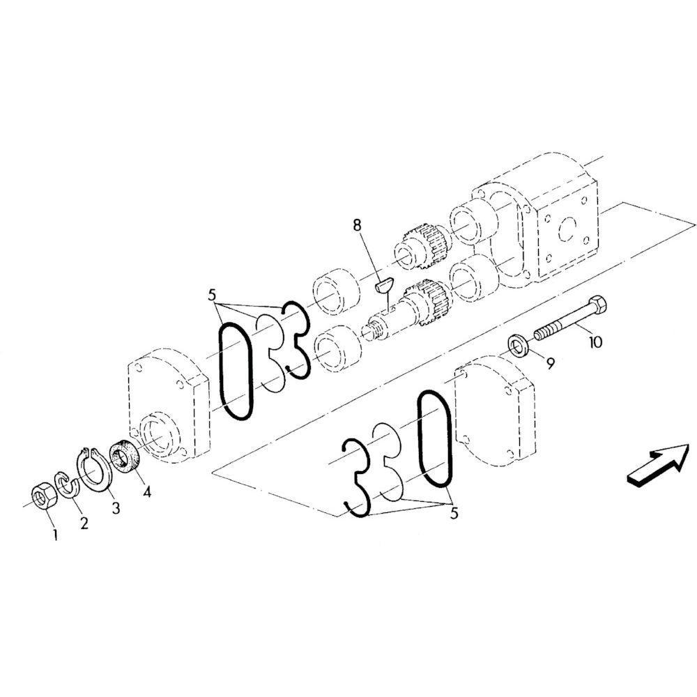 02 Hydraulische pomponderdelen passend voor KUHN RA-FA250G-RG