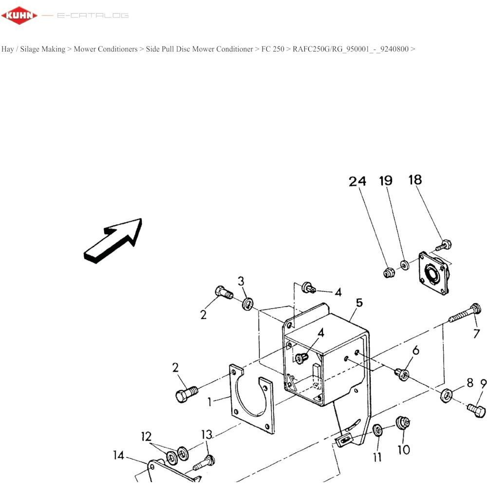 03 Hydrauliekpompsteun passend voor KUHN RA-FA250G-RG