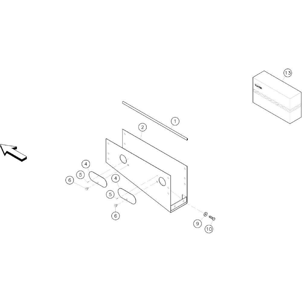 04 Schermbeugels passend voor KUHN RA-FA250G-RG