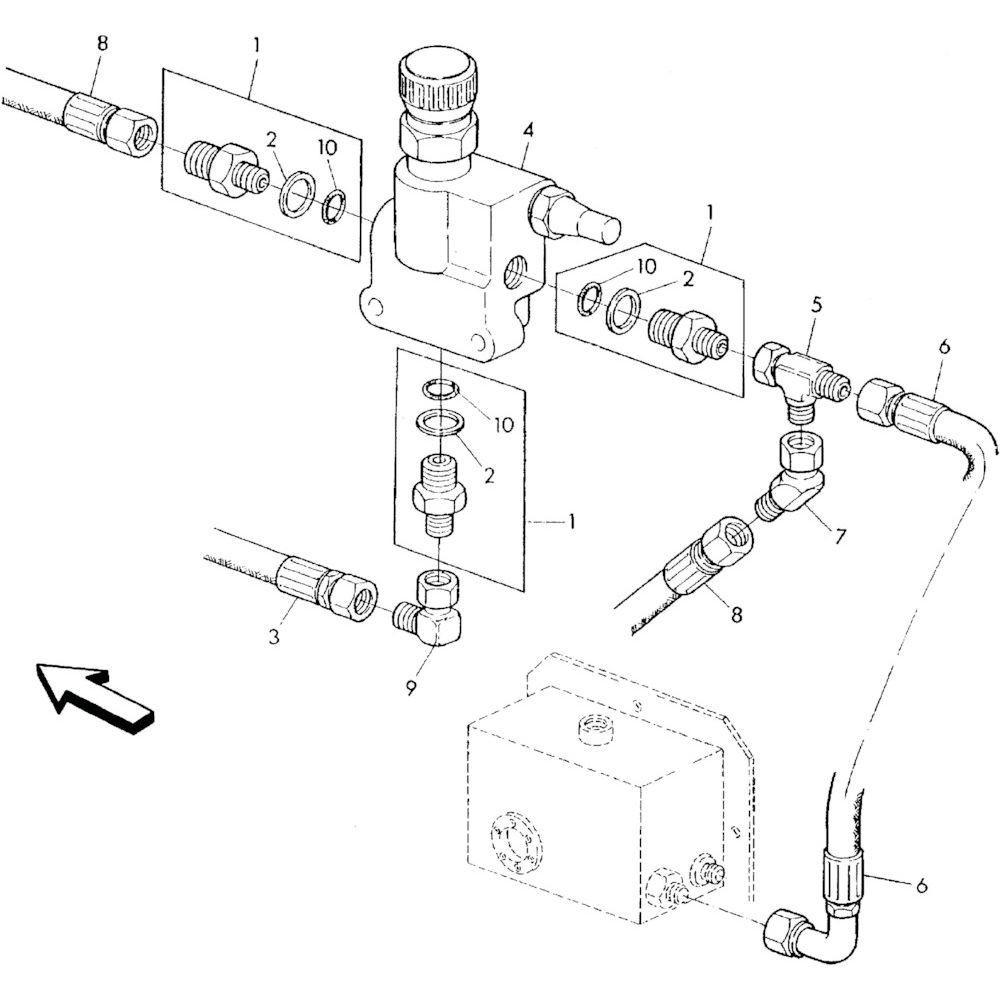 05 Hydraulisch systeem onderdelen 1 passend voor KUHN RA-FA250G-RG