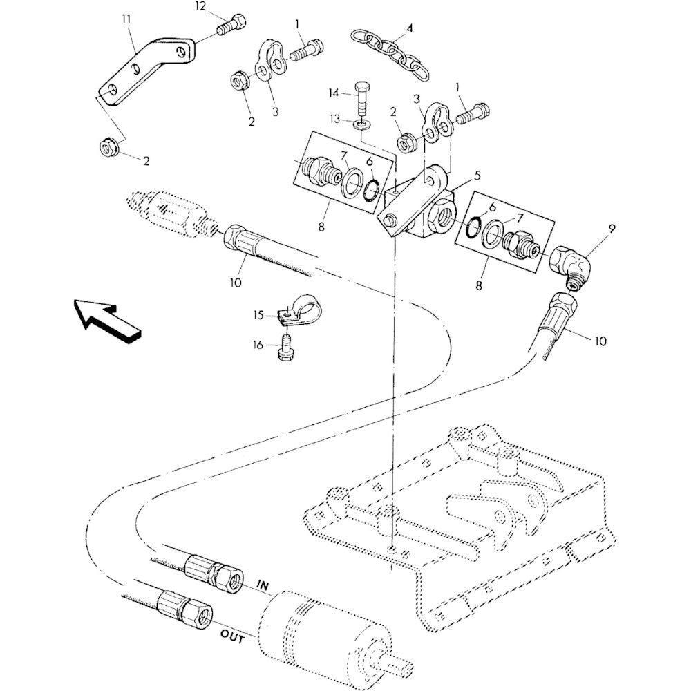 06 Hydraulisch systeem onderdelen 2 passend voor KUHN RA-FA250G-RG