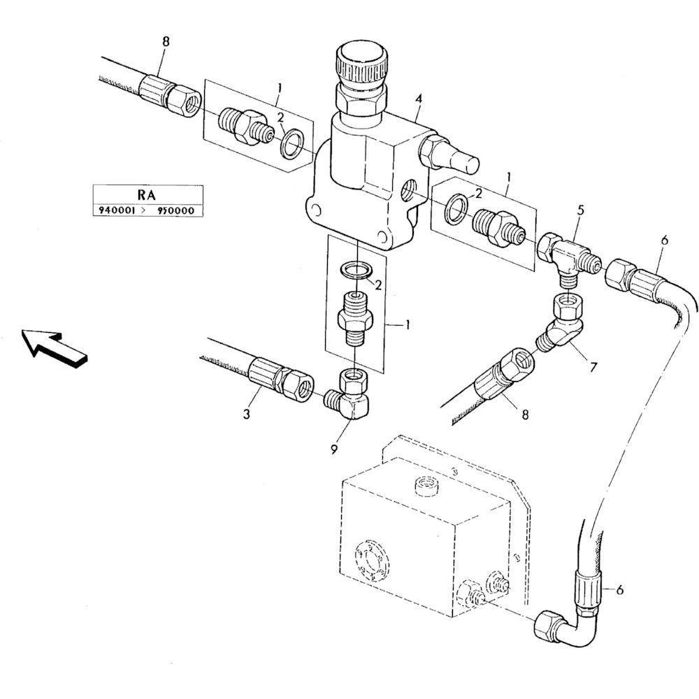 04 Hydraulisch systeem onderdelen 1 passend voor KUHN RA-FA300GRG