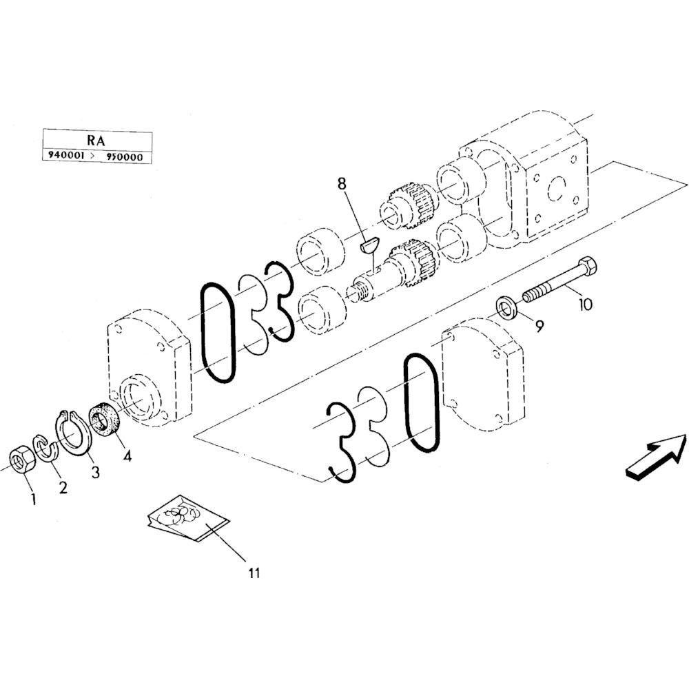 02 Hydraulische pomponderdelen passend voor KUHN RA-FC302