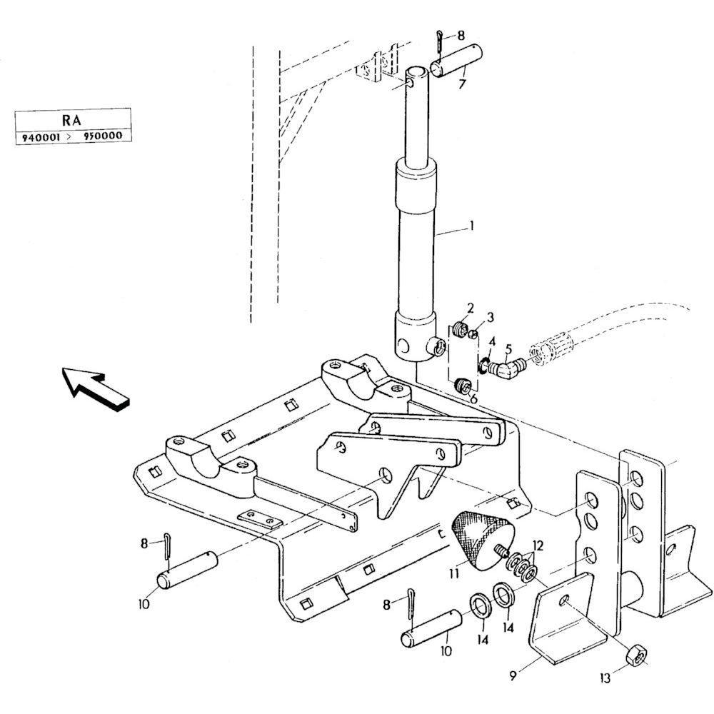 07 Hydraulische cilinder passend voor KUHN RA-FC302