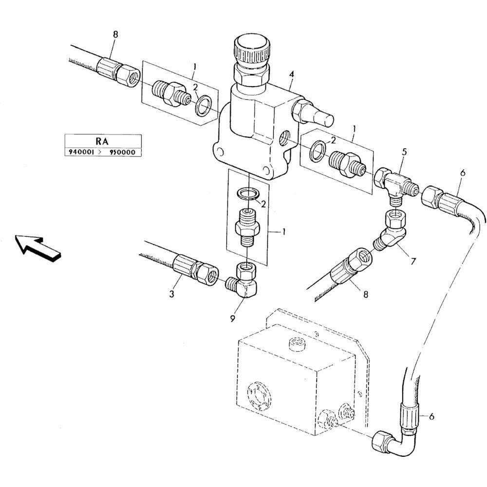 04 Hydraulisch systeem onderdelen 1 passend voor KUHN RA-FC302GRG