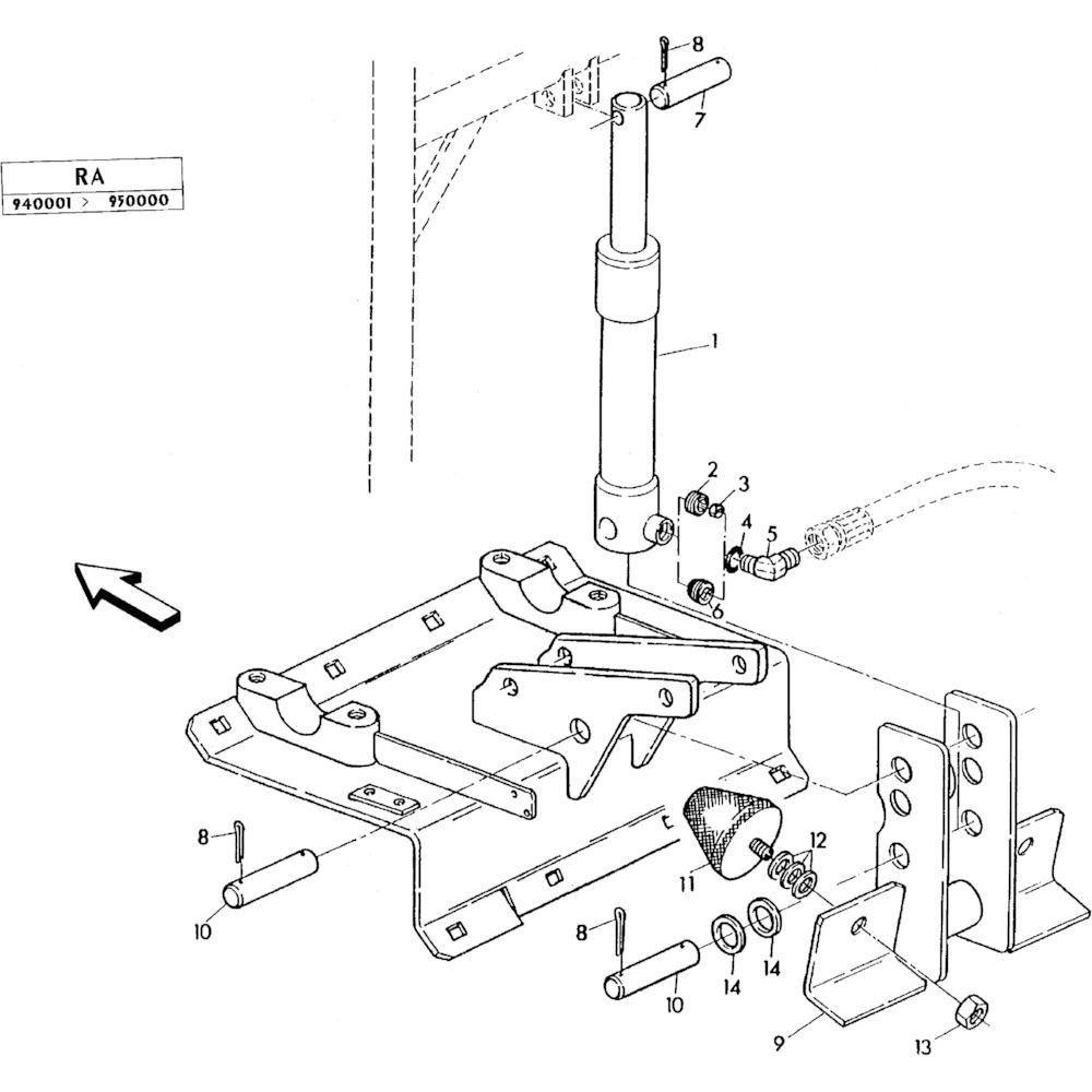 07 Hydraulische cilinder passend voor KUHN RA-FC302GRG