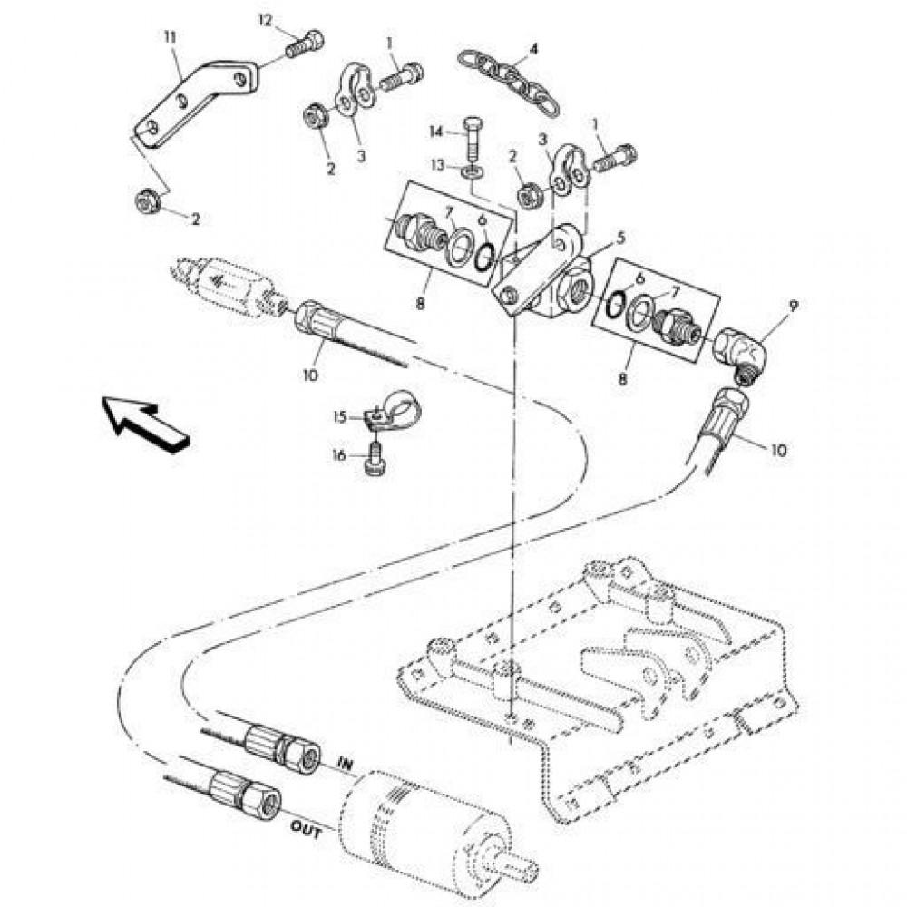06 Hydraulisch systeem onderdelen 2 passend voor KUHN RA-FC302G-RG