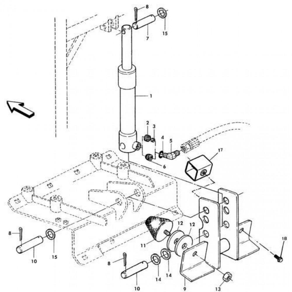 08 Hydraulische cilinder passend voor KUHN RA-FC302G-RG