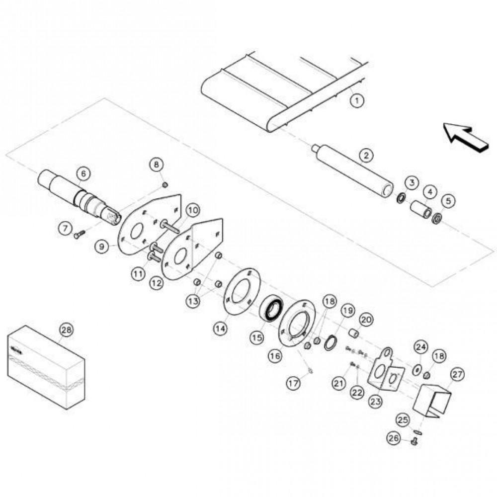 15 Canvas, aandrijfrol passend voor KUHN RA-FC302G-RG