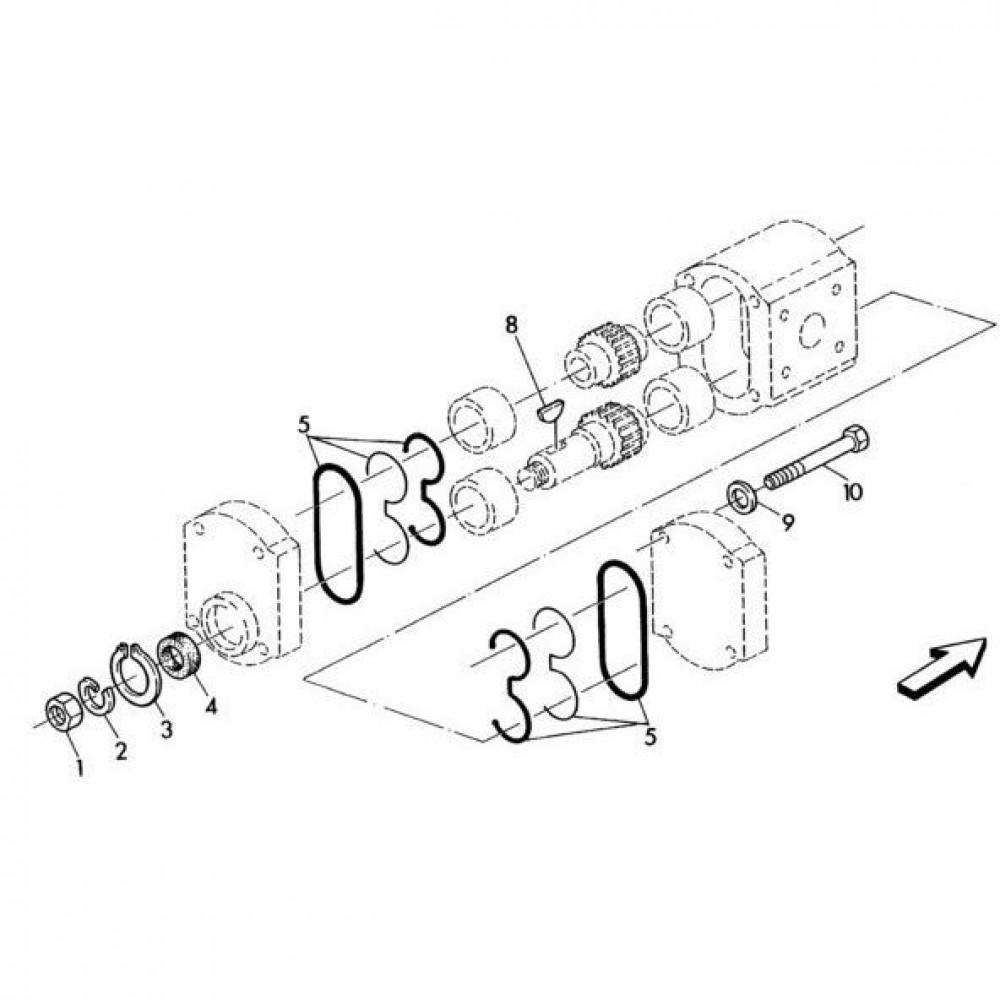 02 Hydraulische pomponderdelen passend voor KUHN RA-FC302MN