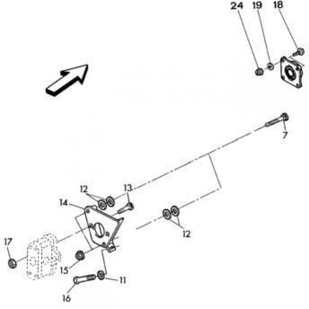 03 Hydrauliekpompsteun passend voor KUHN RA-FC302MN