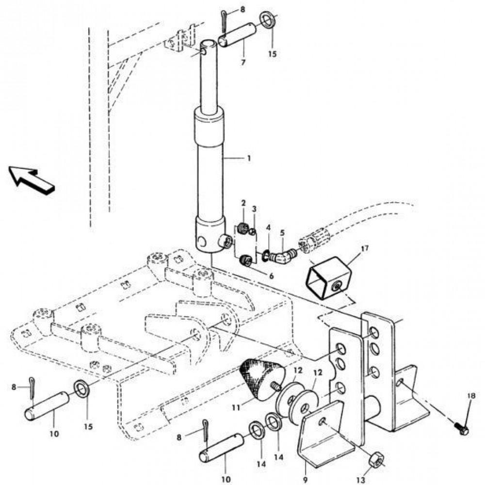 08 Hydraulische cilinder passend voor KUHN RA-FC302MN
