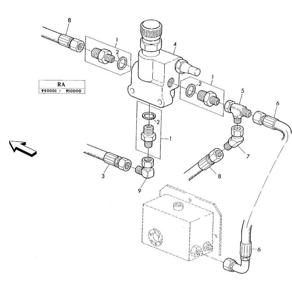 04 Hydraulisch systeem onderdelen 1 passend voor KUHN RA-FC350GRG