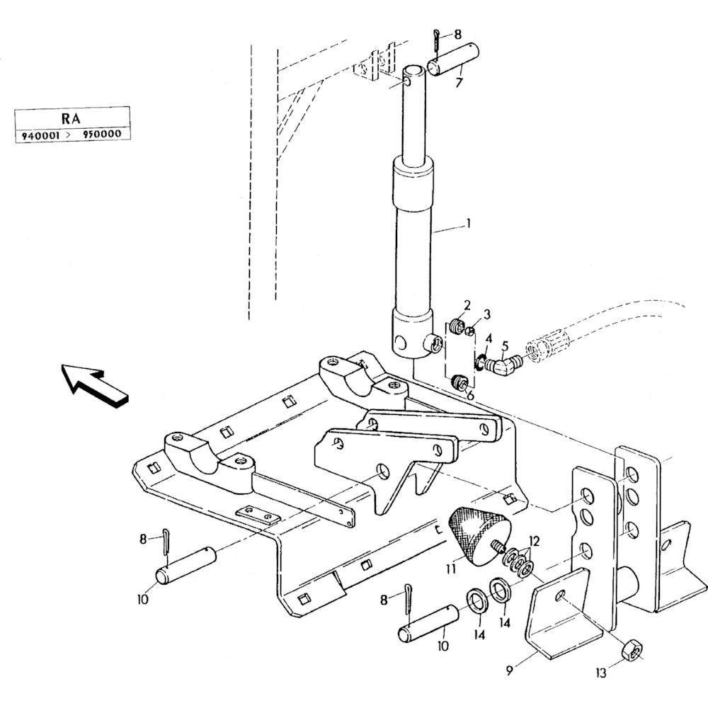 07 Hydraulische cilinder passend voor KUHN RA-FC350GRG